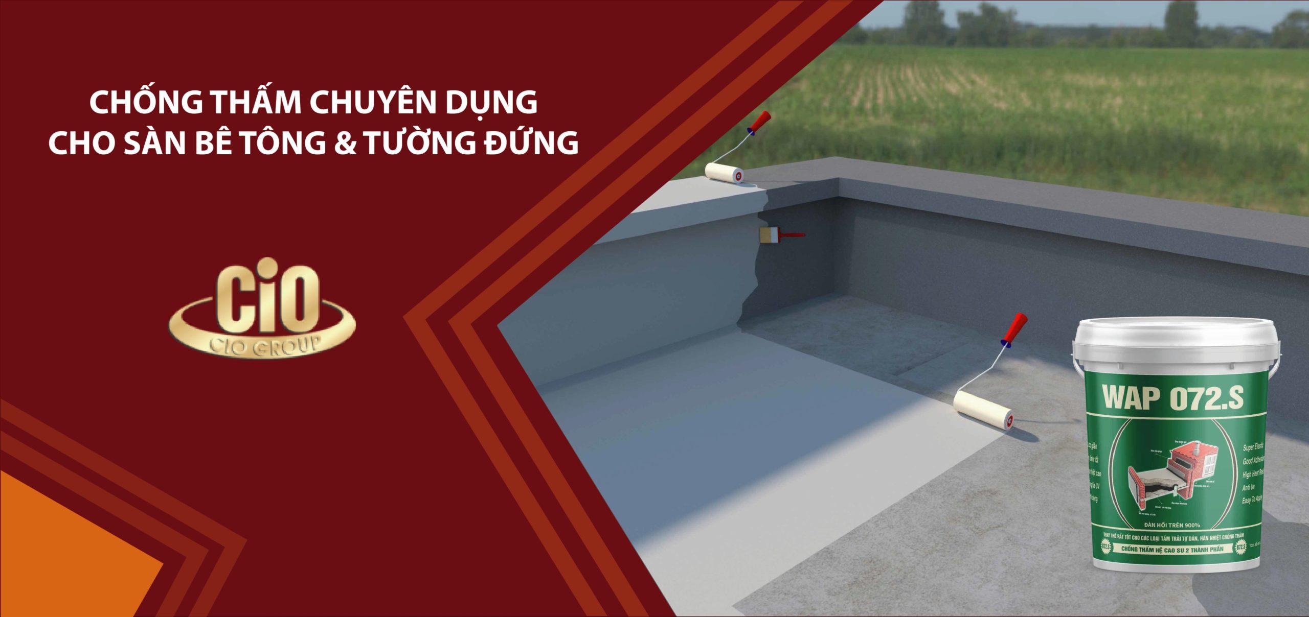 chống thấm chuyên dụng cho sàn bê tông - tường đứng